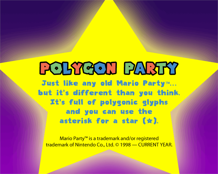 Polygon Party font by Ultra Cool Fonts