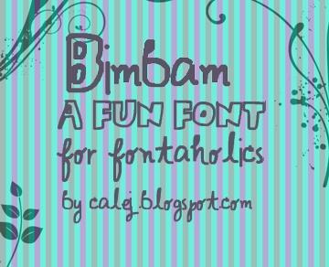Bimbam font by calej d'art