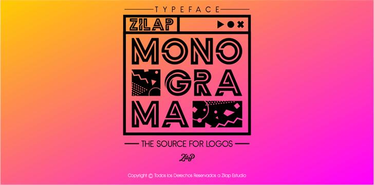 Zilap Monograma font by ZILAP ESTUDIO - ZP