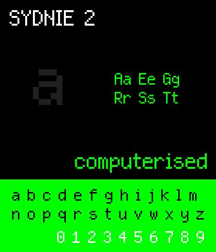 NBP Sydnie2 font by total FontGeek DTF, Ltd.