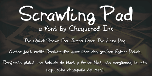Scrawling Pad font by Chequered Ink