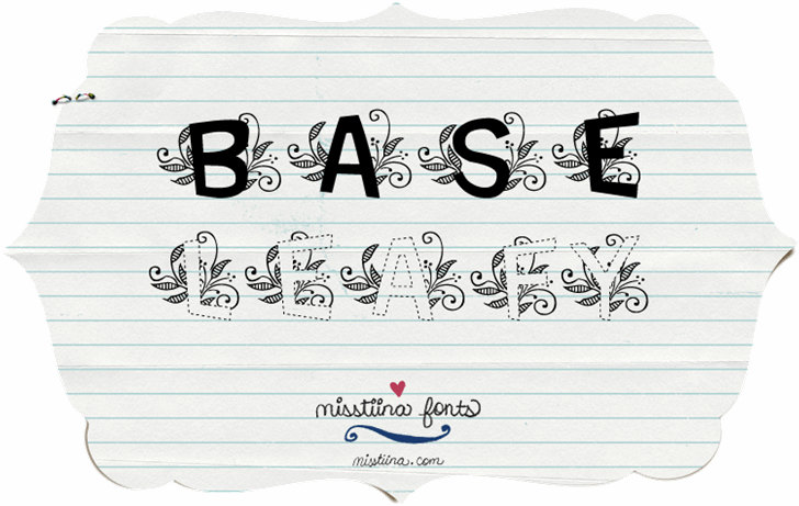 MTF Base Leafy font by Miss Tiina
