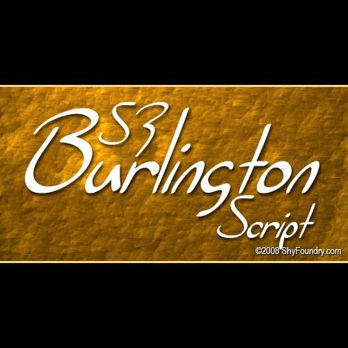 SF Burlington Script font by ShyFoundry