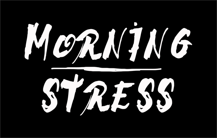 Morning Stress font by CloutierFontes