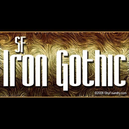SF Iron Gothic font by ShyFoundry