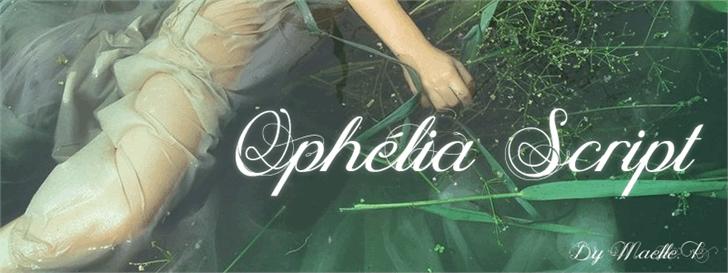 Ophélia Script font by Maellekeita