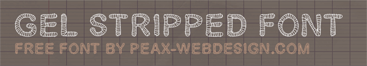 Gelstripped font by Peax Webdesign