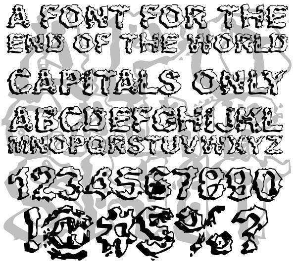 Apocalypshit font by Spork Thug Typography