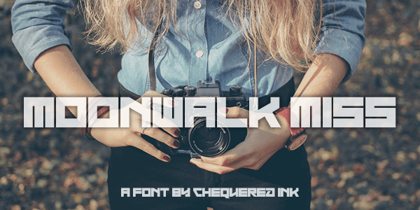 Moonwalk Miss font by Chequered Ink