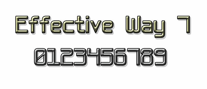 Effective Way 7 font by Style-7