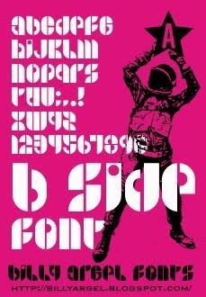 B SIDE font by Billy Argel