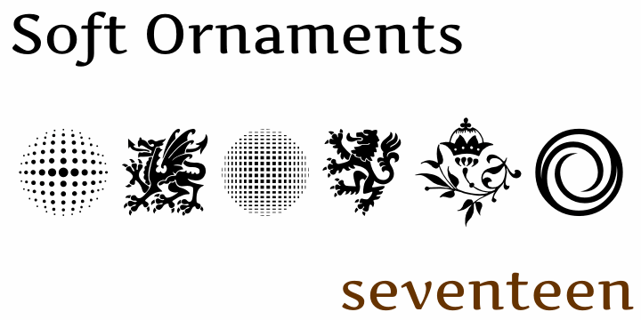 Soft Ornaments Seventeen font by Intellecta Design