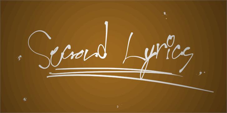 Second Lyrics font by Måns Grebäck