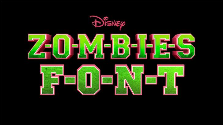 ZOMBIES font by TFonts1