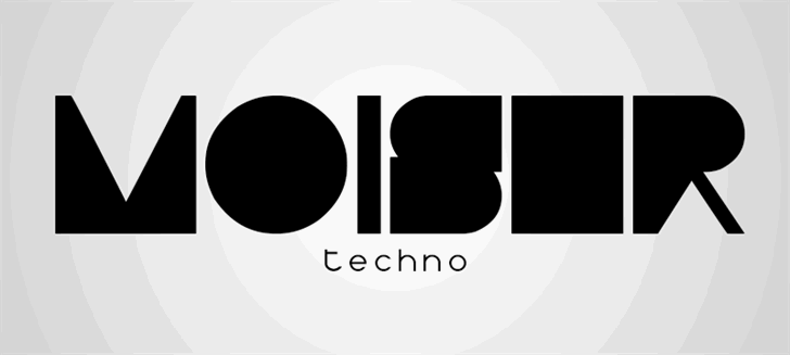 Moiser techno font by Qbotype Fonts