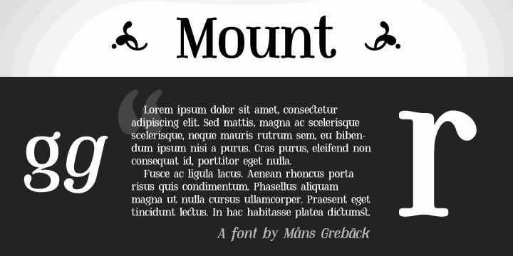Mount PERSONAL USE ONLY font by Måns Grebäck