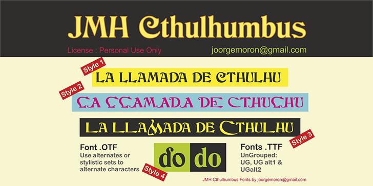 JMH Cthulhumbus font by Joorgemoron@gmail.com