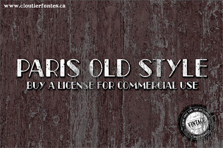 CF Paris Old Style font by CloutierFontes