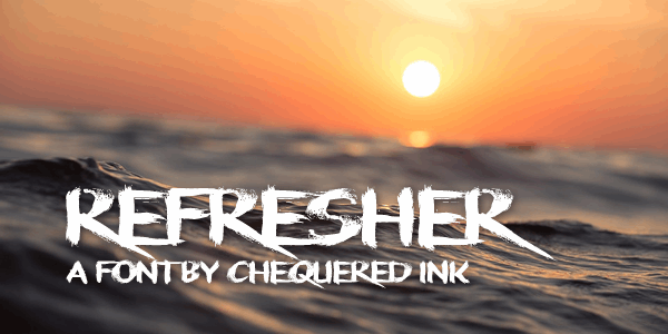 Refresher font by Chequered Ink