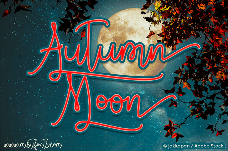 Autumn Moon font by Misti's Fonts