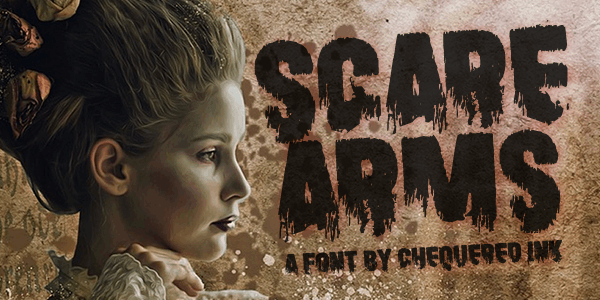 Scare Arms font by Chequered Ink