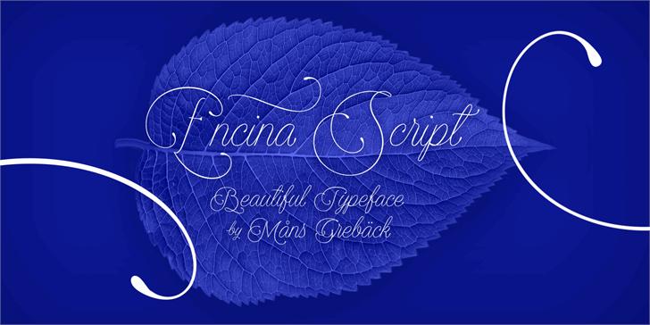Encina Script 1 PERSONAL USE font by Måns Grebäck