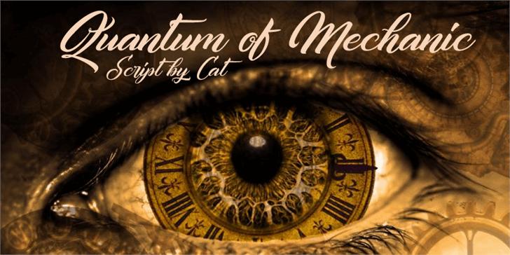 Quantum of Mechanic font by Foundmyfont Studio Typeface LTD