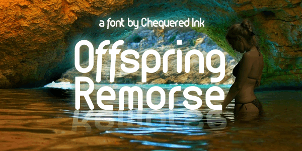 Offspring Remorse font by Chequered Ink