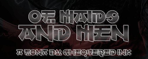 Of Maids and Men font by Chequered Ink