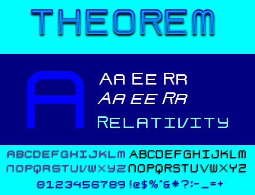 Theorem NBP font by total FontGeek DTF, Ltd.