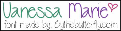 VanessaMarie font by ByTheButterfly
