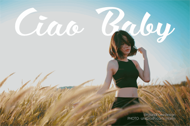 Ciao Baby font by Roland Huse Design
