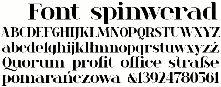 spinwerad font by gluk