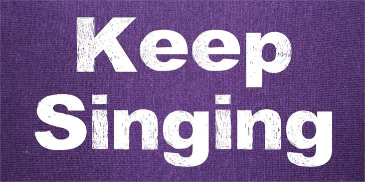 Keep Singing font by Vladimir Nikolic