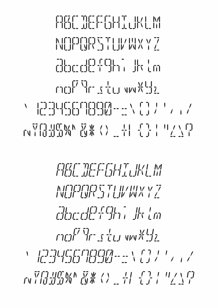 led16sgmnt2 font by alisaptamarza