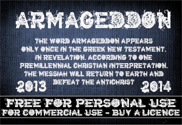 CF Armageddon font by CloutierFontes