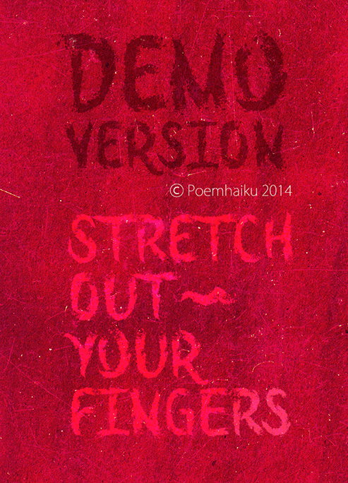 Stretch Out Your Fingers font by Poemhaiku
