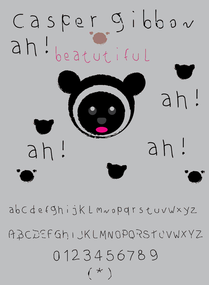 casper gibbon font by Cé - al