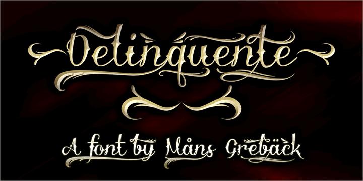 Delinquente Demo font by Måns Grebäck