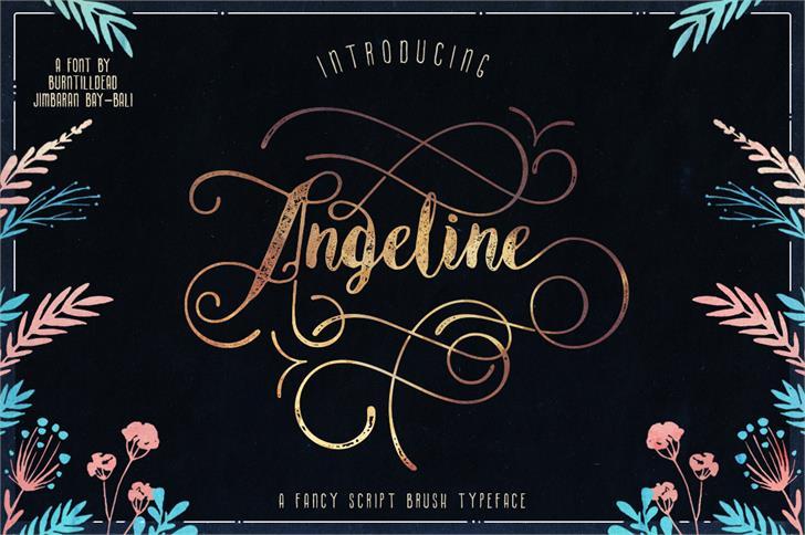 Angeline Vintage font by burntilldead