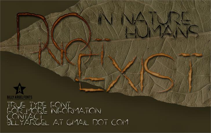 DO NOT EXIST font by Billy Argel