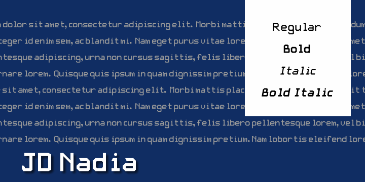 JD Nadia font by Jecko Development