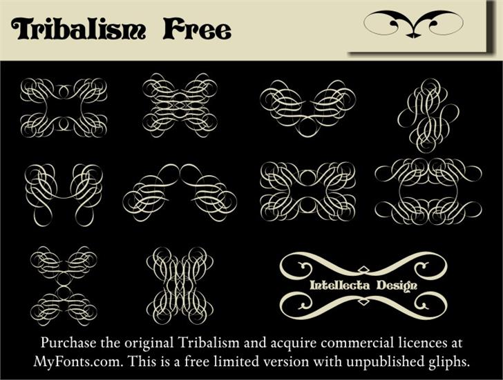 Tribalism Free font by Intellecta Design
