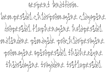 Serpent Knotform font by Glyphobet Font Foundry