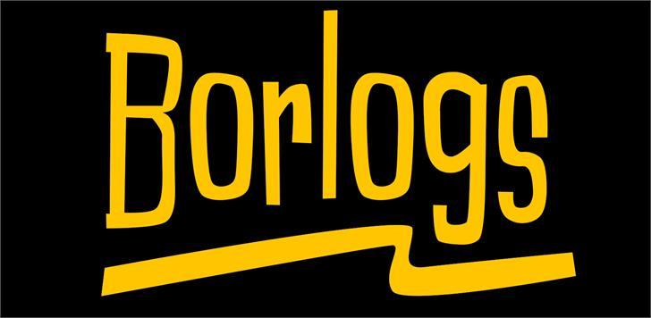 Borlogs font by VVB DESIGNS