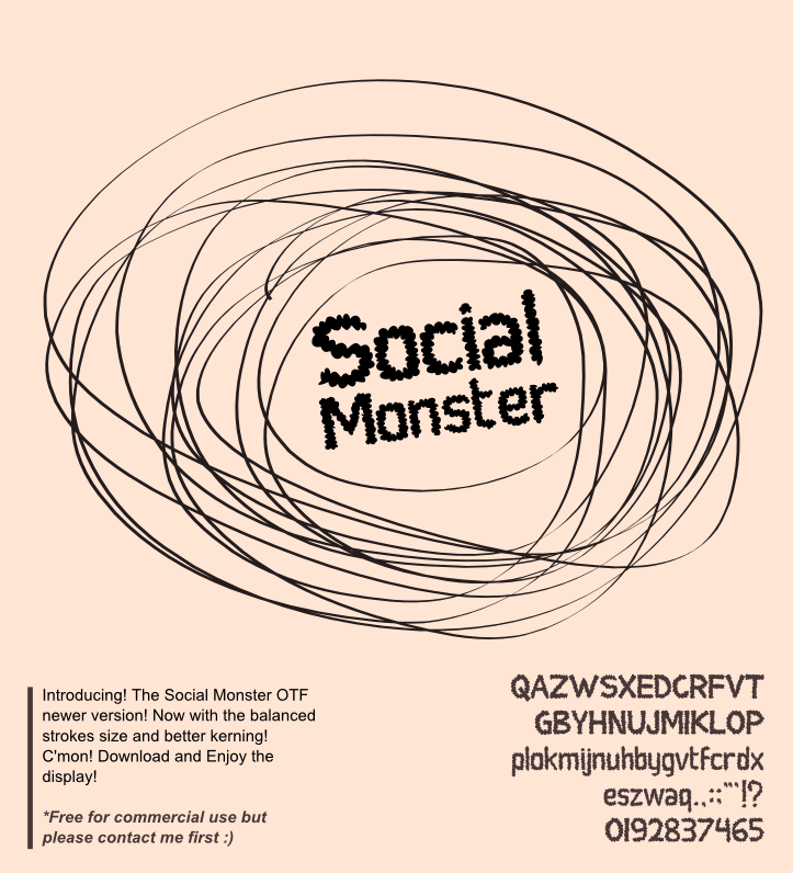 Social Monster font by Gunarta