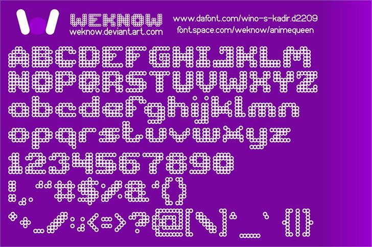 animequeen font by weknow