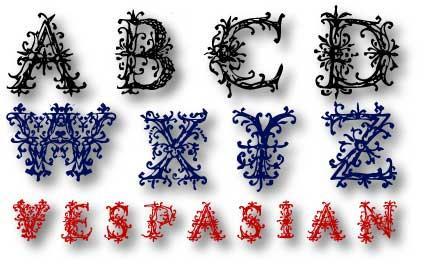 VespasiansFlorials font by Manfred Klein