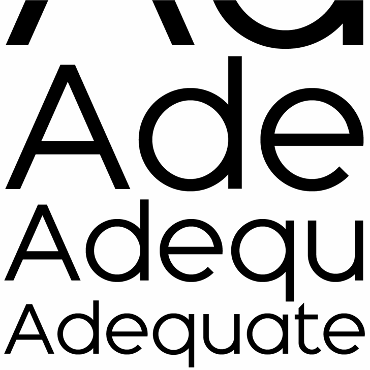 Adequate font by K-Type