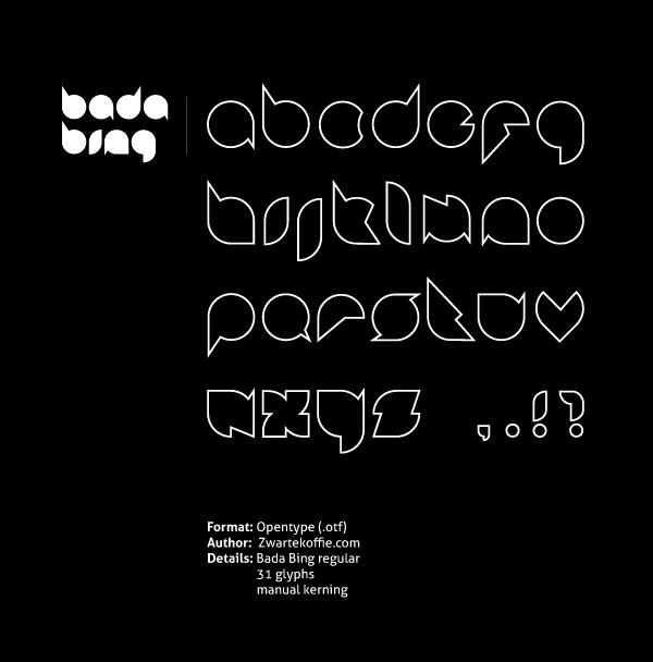 Badabing font by Zwarte Koffie